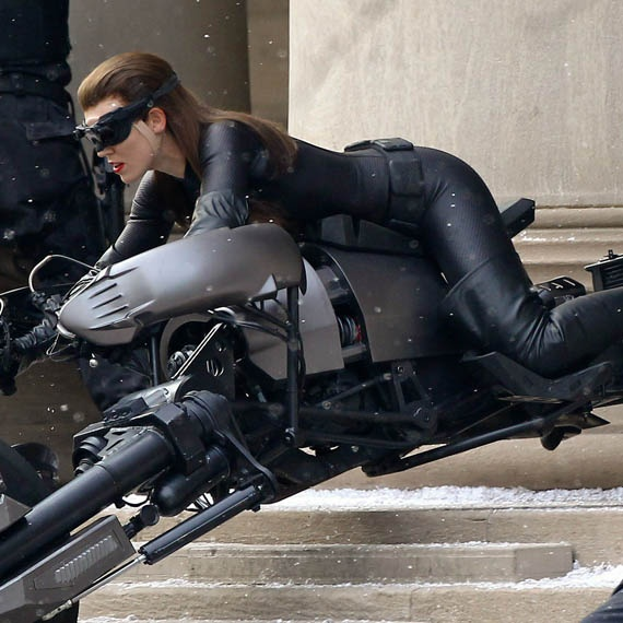 Catwoman Anne Hathaway Practically Humps A Motorcycle