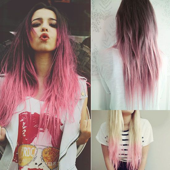 65 best redpink ombre hair styles extensions images on springsummer 2014 hairstyles inspirations pink dip dye hair looks solutioingenieria Gallery