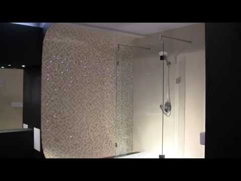Oświetlenie łazienkowe, oświetlenie LED w fugach, łazienka marzeń