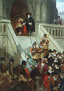 Cromwell dissolving The Long Parliament, by Andrew Carrick Gow