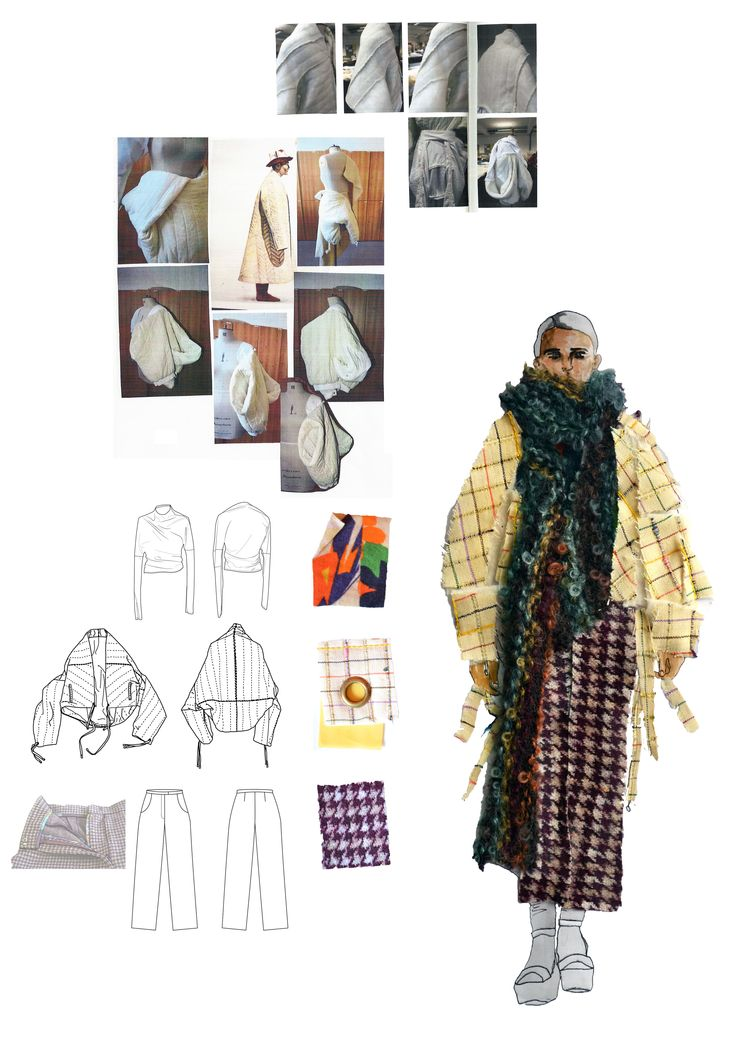 Design development board Stephanie Zeinati, BA (Hons) Fashion Design, UCA Rochester