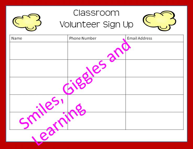 12 best first day images on Pinterest Back to school, Classroom - conference sign up sheet template