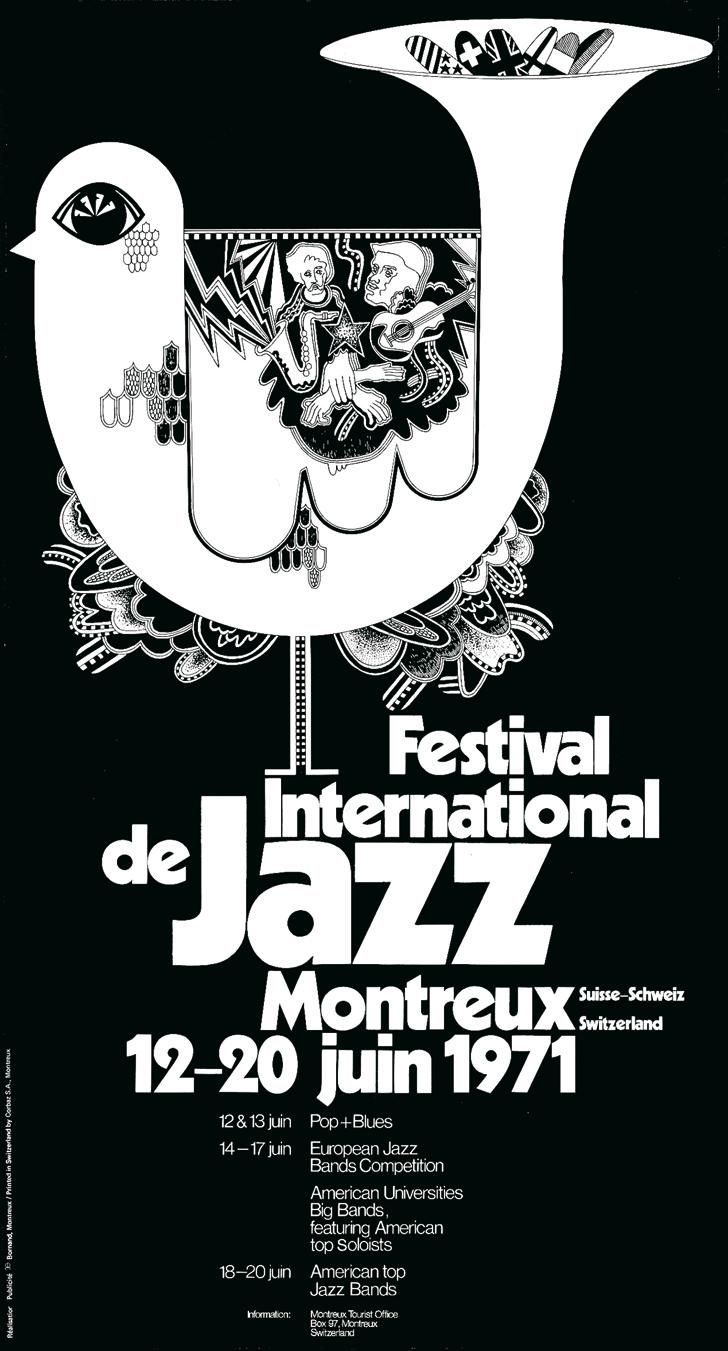 Montreux 1971 Artwork by Bruno Caeng.