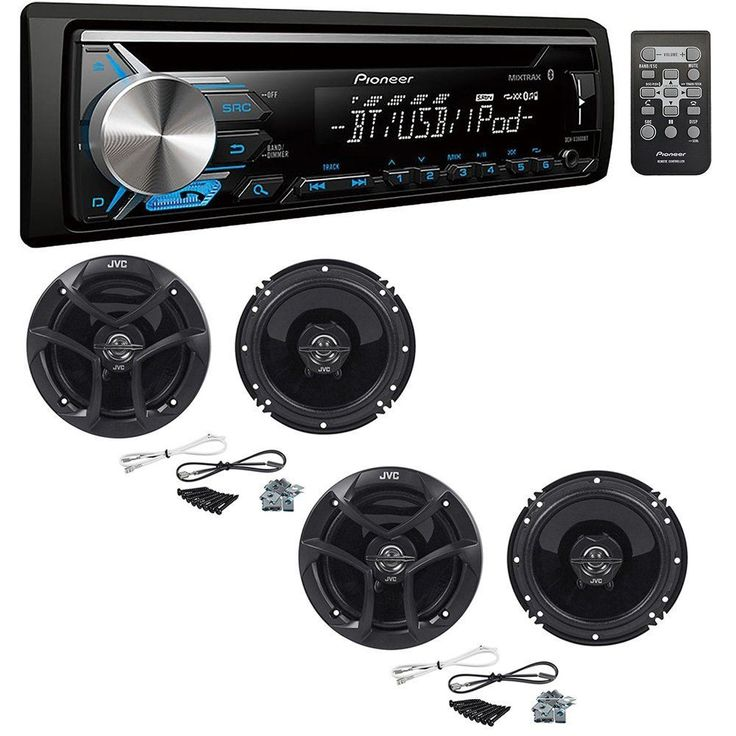 Pioneer Bluetooth CD/AM/FM Car Stereo Receiver with 2-Way Coaxial Car Speakers  #pioneer