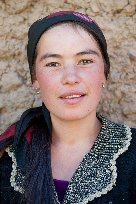 Kyrgyz woman, from Tajikistan, Asia.
