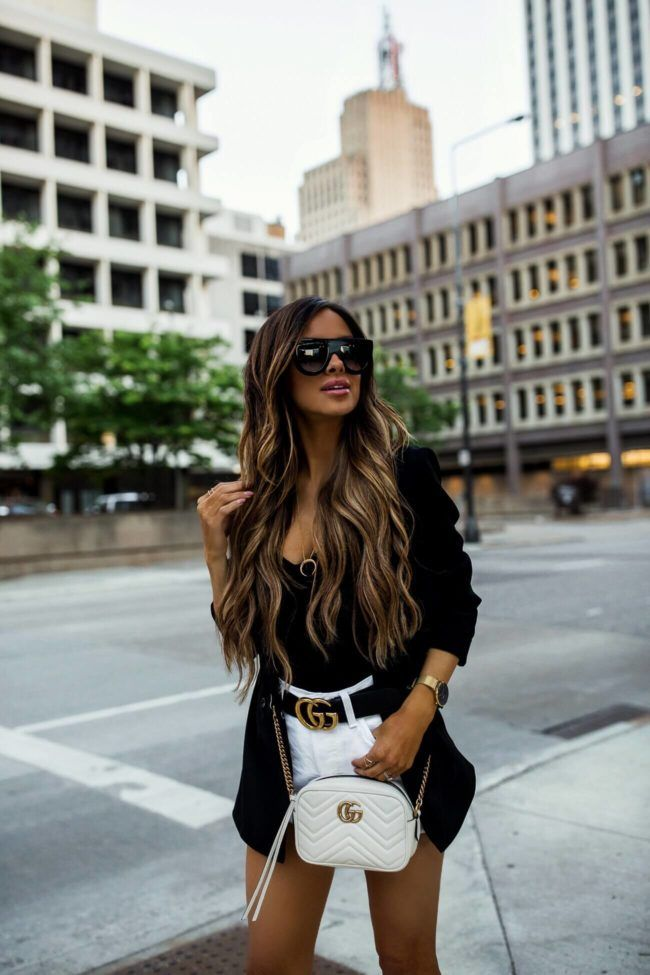 7d44bba90714 fashion blogger mia mia mine wearing a black bodysuit and a black topshop  blazer from nordstrom