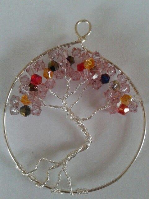 Swarovski tree of life pendant