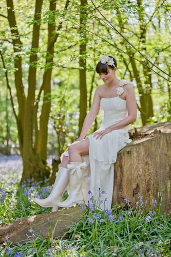customized bridal wellies