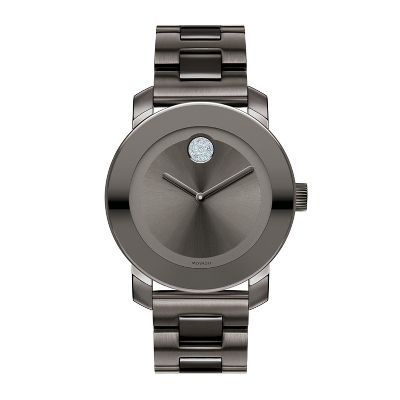 Movado® Bold® Ladies' Grey Watch in Stainless Steel, available at #HelzbergDiamonds