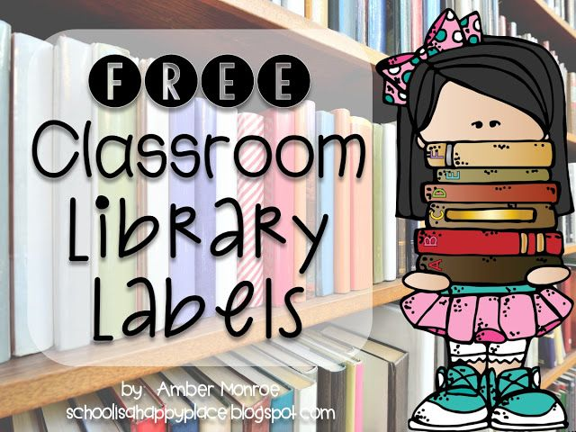 FREE Classroom Library Labels