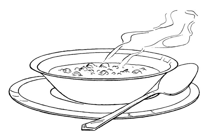 rice coloring pages for kids | vegetable soup coloring pages | Food, Drink and Cooking ...