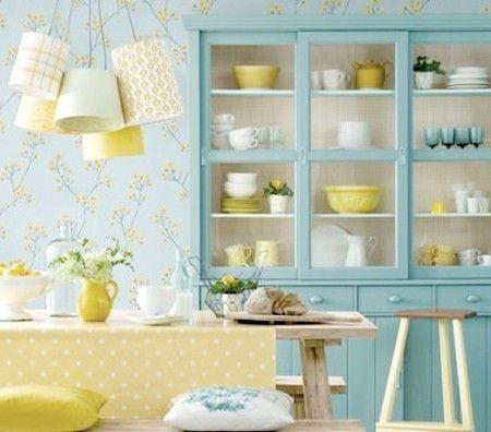 Cocinas con papel pintado: zona office