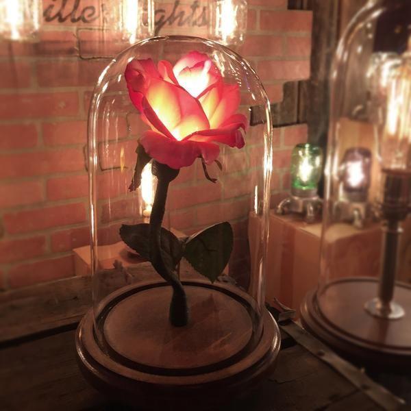 The Belle Eternal Rose Lamp Millerlights Flower Lamp Enchanted Rose Disney Beauty And The Beast