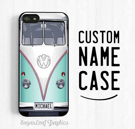 Volkswagen Bus iPhone Case Monogrammed VW by theSugarloafBoutique, $15.95