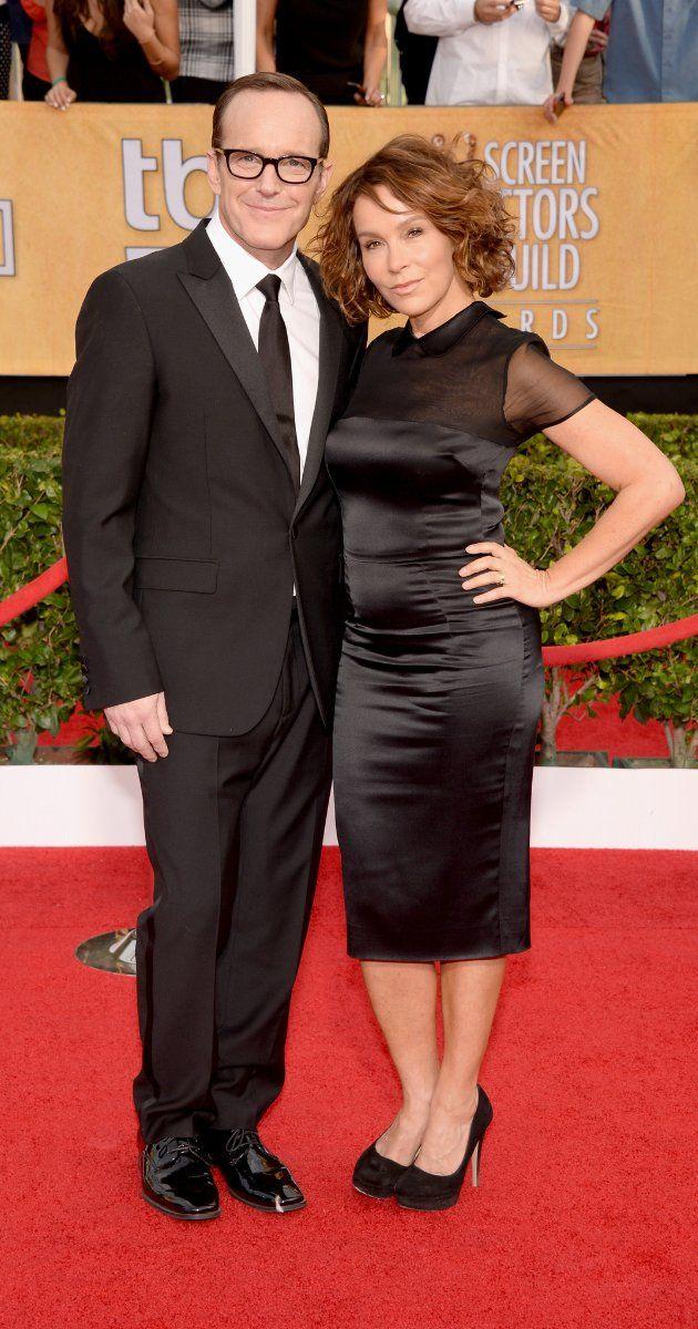 Jennifer Grey and husband Clark Gregg  ~~~Jan 2014 SAG Awards