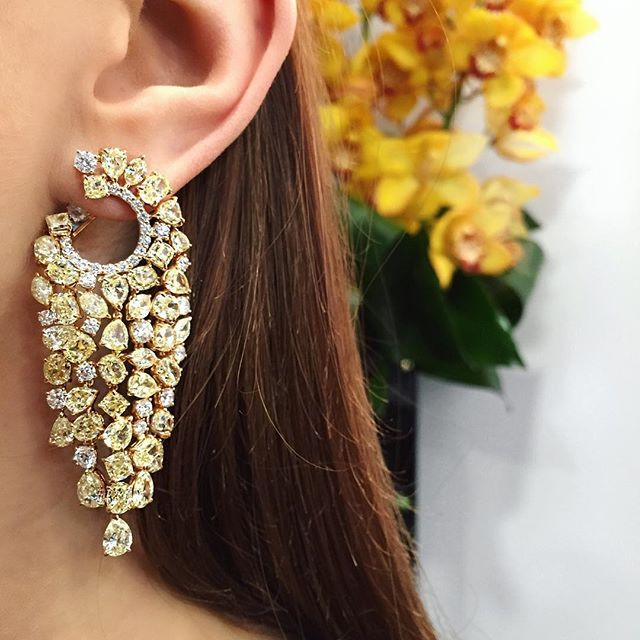 Let the colour yellow make you smile ! ✨ this is our #Earspiration for today from our Dune Collection #Gismondi1754 #Gismondi #fancyyellow #diamond #earrings #albemarlestreet #mayfair #madeinitaly