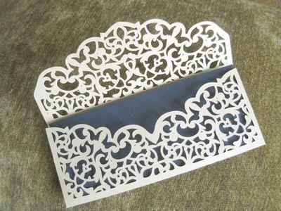 Подарки ручной работы: Ажурный конверт для денег