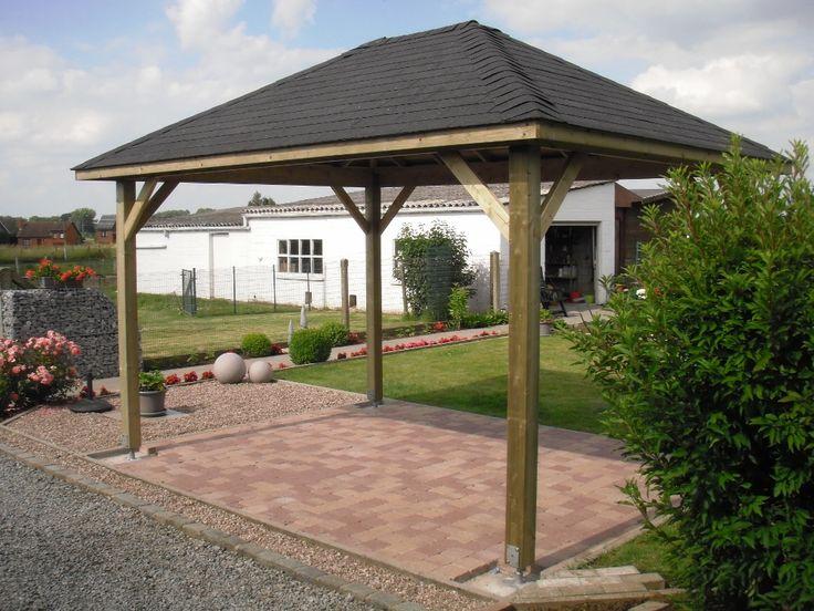 Un #carport à toit 4 pentes ? Pas de problème ! Contactez Import Garden ;-)