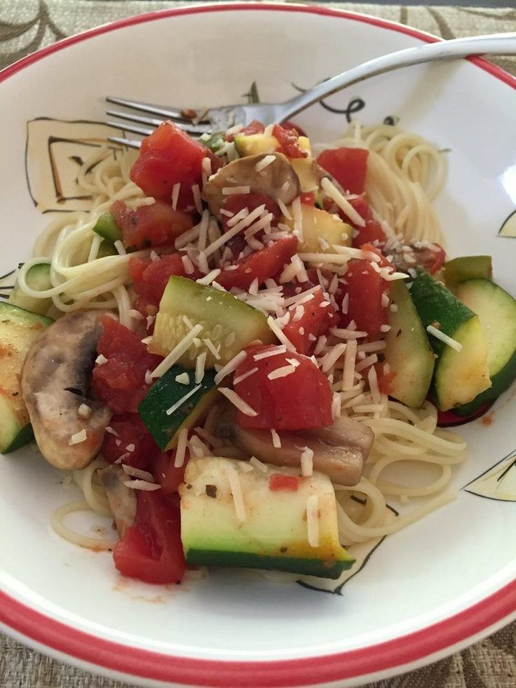 "Mediterranean Vegetable Pasta! ""Easy & Delicious""  @allthecooks #recipe #pasta #dinner"
