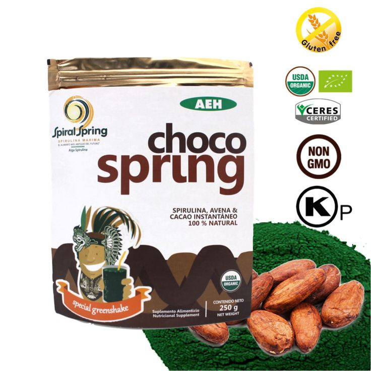 Choco Spring (Oats, Cacao & Spirulina Maxima)