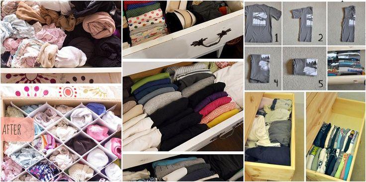 ¡No puedes perderte estas fabulosas ideas para doblar tu ropa y tener tus cajones siempre perfectos!