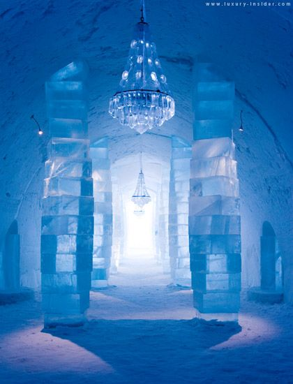 Have one drink too many from an ice glass, sitting at the ice bar, and then fall asleep in an ice bed in Sweden's Ice Hotel.