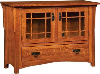 Greenwood Mission Plasma TV Cabinet | Indiana Amish TV Stand | Mission Style Plasma TV Stand