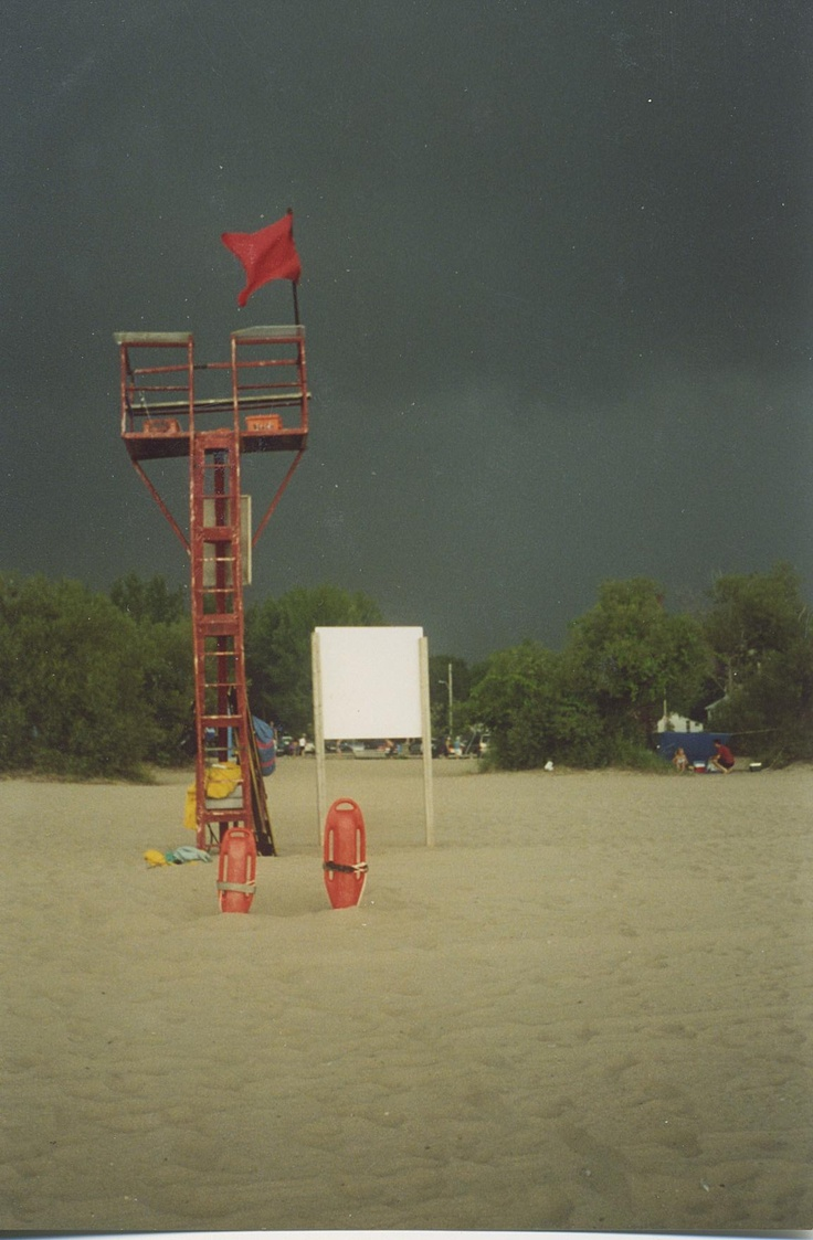 Port Stanley Beach Patrol, Port Stanley Ontario just before a bad storm...