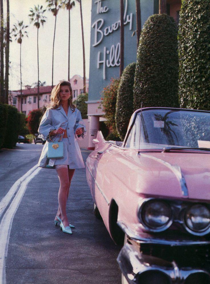 Kate Moss shot by Lance Staedler for Glamour France April 1992