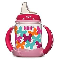 Nuk Learner Cup ($8): Air vent helps to reduce swallowing air, handles can be removed as child grows. Read more here: http://www.lucieslist.com/gear-guides/sippy-cup/#trainer