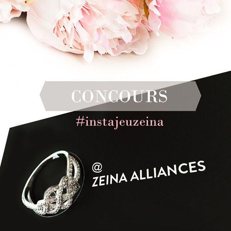 [Concours] Du 20 Octobre au 20 Novembre 2015, tentez votre chance en participant à notre tirage au sort. L'un d'entre vous remportera cette magnifique bague APM Monaco où se mêle des arabesques  Pour participer, rien de plus simple.  1/ Abonnez-vous au compte Instagram @zeina_alliances 2/ Repostez la photo du jeu concours en mentionnant @zeina_alliances et les hashtags suivants : #instajeuzeina, #concours 3/ Votre compte instagram doit être public pour que nous puissions prendre en compte…
