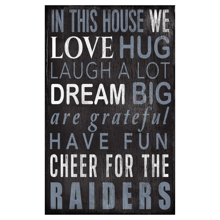 NFL Oakland Raiders Fan Creations In This House Sign