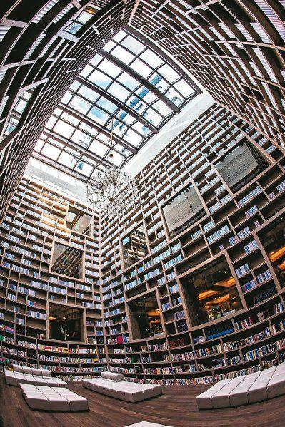 The Gaia Hotel Library, Taipei, Taiwan.