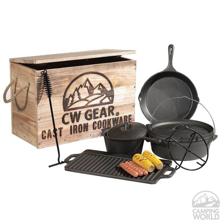 $71.84CW Gear Cast Iron Cookware Set - Intersource Enterprises D14-318 - Cookware - Camping World