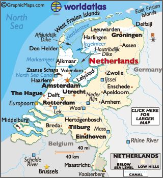 Netherlands Map / Geography of Netherlands / Map of Netherlands - Worldatlas.com