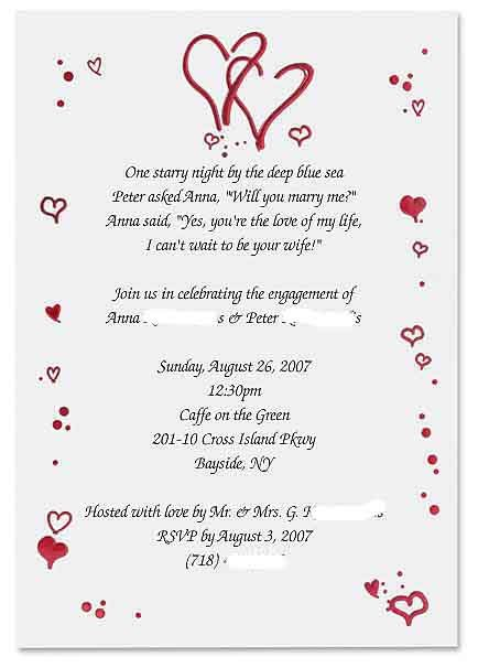 17 Best ideas about Engagement Invitation Wording – Sample Engagement Party Invitations