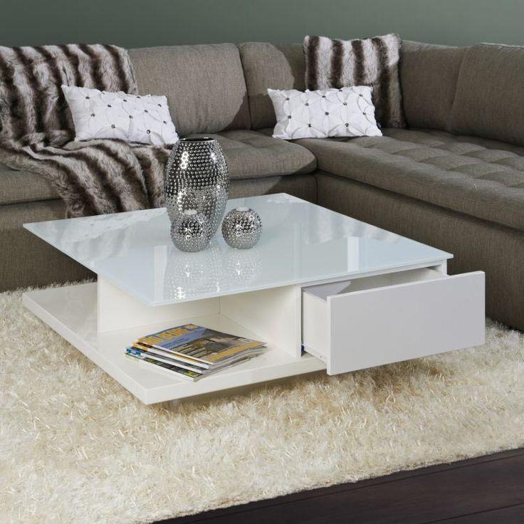Tolle Couchtisch Weiss Hochglanz Mit Glasplatte Coffee Table White