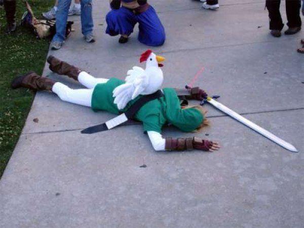 A única coisa em Hyrule mais perigosa que Ganon... As galinhas!