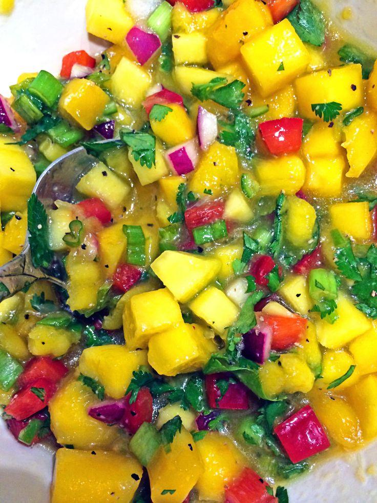 Mango Salsa on Grilled Swordfish1