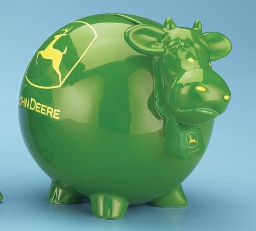 *JOHN DEERE COW BANK