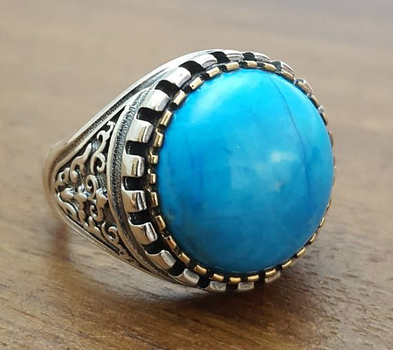 K 925 para hombre de plata esterlina anillo con piedra