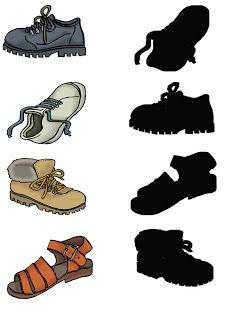 4 schaduwen van schoenen
