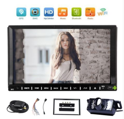 Free Backup Camera Are Included! Android 6.0 System Car Stereo 7 inch Car DVD Player With Touchscreen Double Din Auto Radio In Dash GPS Navigation Stereo Bluetooth Head unit WiFi OBD2 1080P Video SWC 3G/4G DAB+ https://www.eincar.com/car-dvd/android-car-dvd/free-backup-camera-are-included-android-6-0-system-car-stereo-7-inch-car-dvd-player-with-touchscreen-double-din-auto-radio-in-dash-gps-navigation-stereo-bluetooth-head-unit-wifi-obd2-1080p-video-swc-3g-4g-dab.html