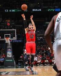 Kirk Hinrich #12 of the Chicago Bulls shoots against the Milwaukee Bucks on January 30, 2013  http://www.fansedge.com/Kirk-Hinrich-Chicago-Bulls-1302013-_1968507880_PD.html?social=pinterest_pfid77-29202