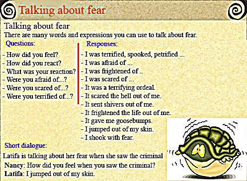EwR.Reading #English Talking about Fear