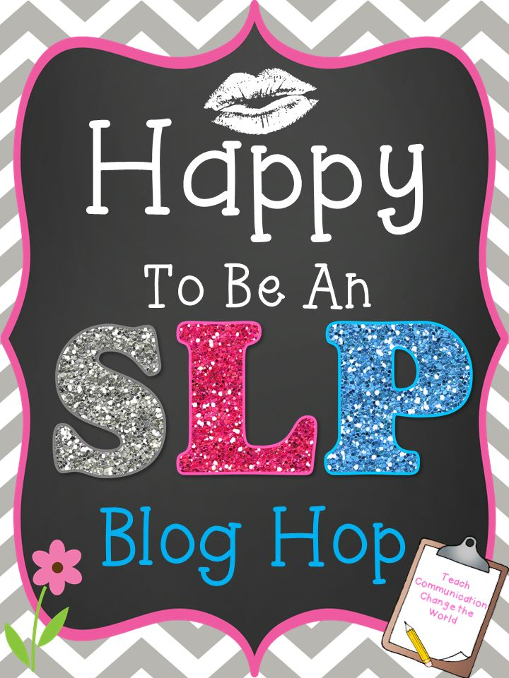 "Happy to be an SLP Blog Hop - Information about cluttering from Consonantly Speaking and a giveaway! Make sure after you read the post to write down the letter and to click ""first blog"" to start at Crazy Speech World's blog so you can go in order to get all of the letters in order to enter to win prizes at The Dabbling Speechie's blog!"