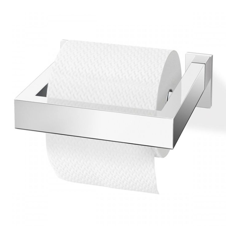 Zack Linea Polished Stainless Steel Toilet Paper Holder 147x30x152mm