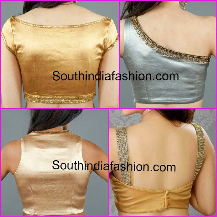 back neck patterns for saree blouse