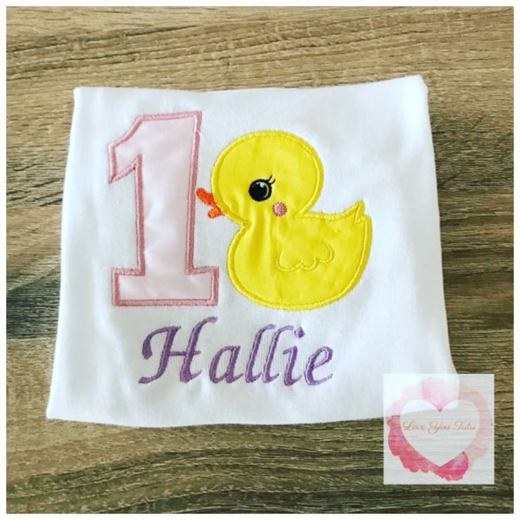 Embroidered Rubber ducky design