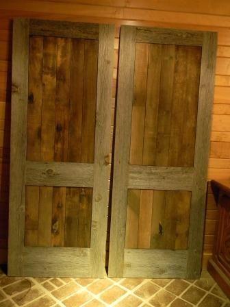 49 best barnwood images on pinterest home ideas cottage - Reclaimed wood interior barn doors ...
